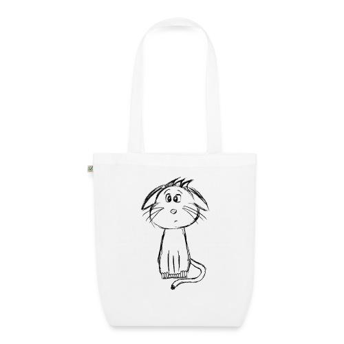 Kissa Kissanpentu musta scribblesirii - Luomu-kangaskassi