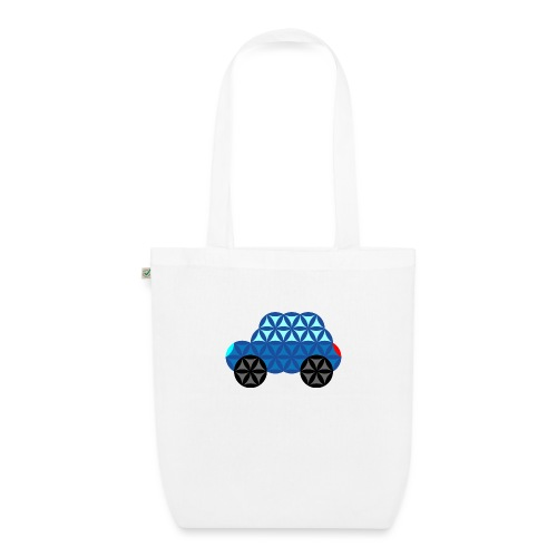 The Car Of Life - M01, Sacred Shapes, Blue/286 - EarthPositive Tote Bag