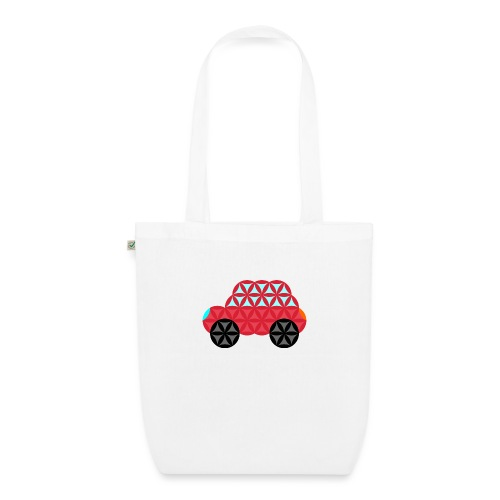 The Car Of Life - M02, Sacred Shapes, Red/186 - EarthPositive Tote Bag