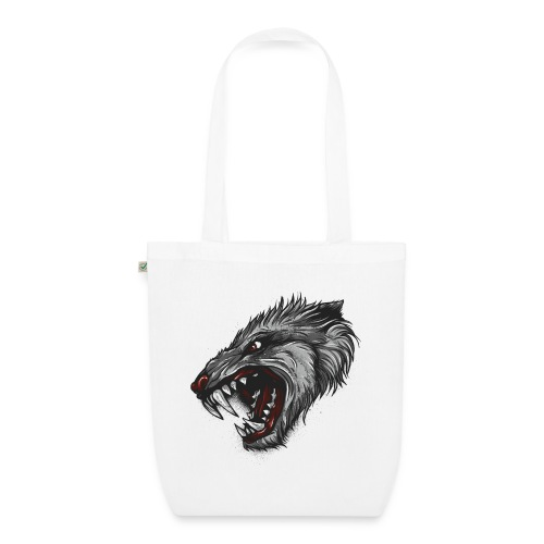 Wolf - Bio-Stoffbeutel