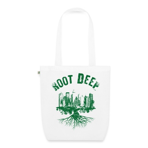 Root deep Urban grün - Bio-Stoffbeutel