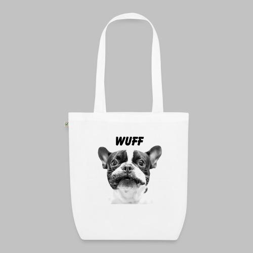Wuff - Hundeblick - Hundemotiv Hundekopf - Bio-Stoffbeutel
