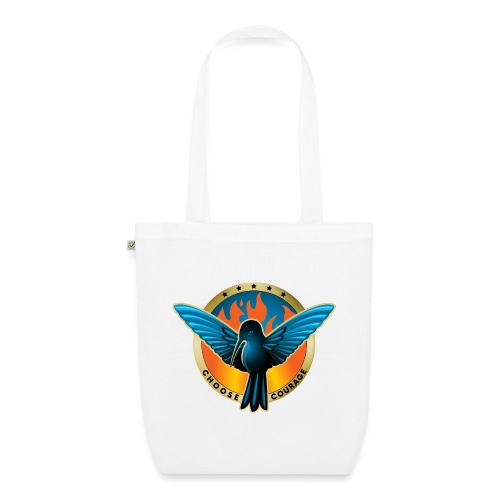 Choose Courage - Fireblue Rebels - EarthPositive Tote Bag