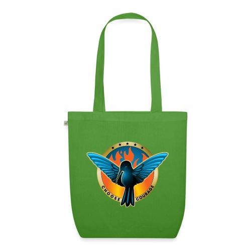 Choose Courage as Fireblue Rebels - EarthPositive Tote Bag