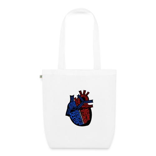 Herz - Bio stoffen tas
