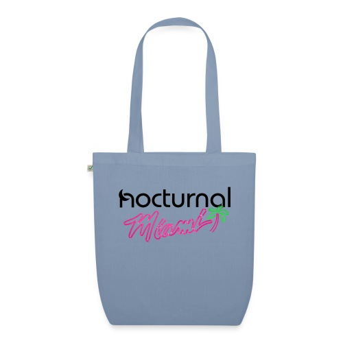 Nocturnal Miami Palm Tree black - EarthPositive Tote Bag