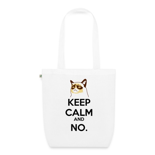 Grumpy Cat Keep Calm - Borsa ecologica in tessuto