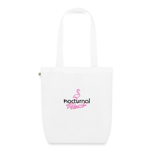 Nocturnal Miami Flamingo black - EarthPositive Tote Bag