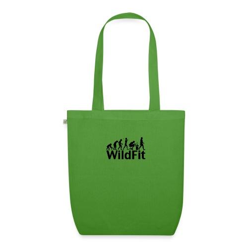 WildFit Logo Evolution in Schwarz - Bio-Stoffbeutel