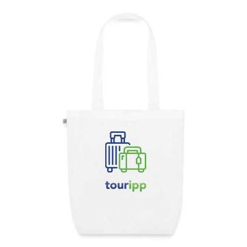 Logo con valigie - Borsa ecologica in tessuto
