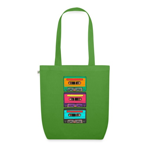Colorful Cassettes row - Ekologisk tygväska