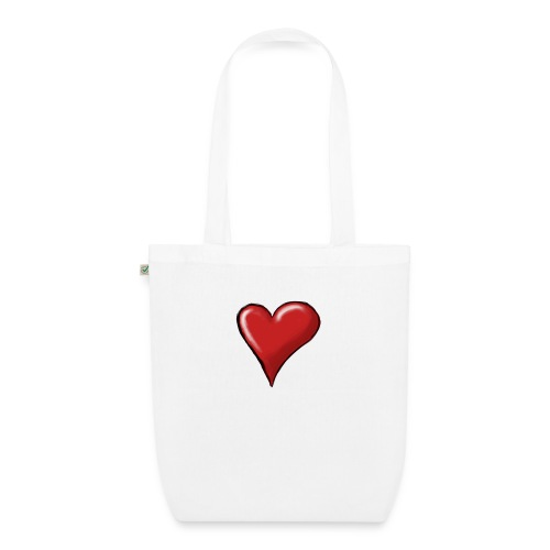 Love (coeur) - Sac en tissu biologique