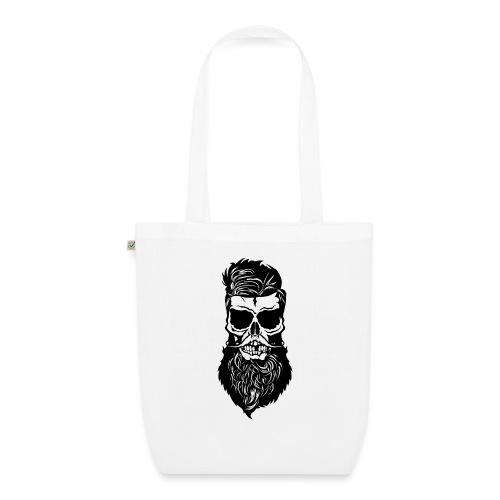tete de mort hipster skull barbu barbe moustache m - Sac en tissu biologique