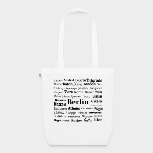 European capitals - EarthPositive Tote Bag