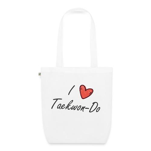 I love taekwondo letras negras - Bolsa de tela ecológica