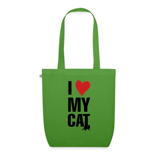 I_LOVE_MY_CAT-png - Bolsa de tela ecológica