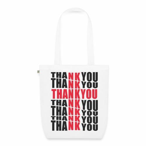 Motyw z napisem Thank You - Ekologiczna torba materiałowa