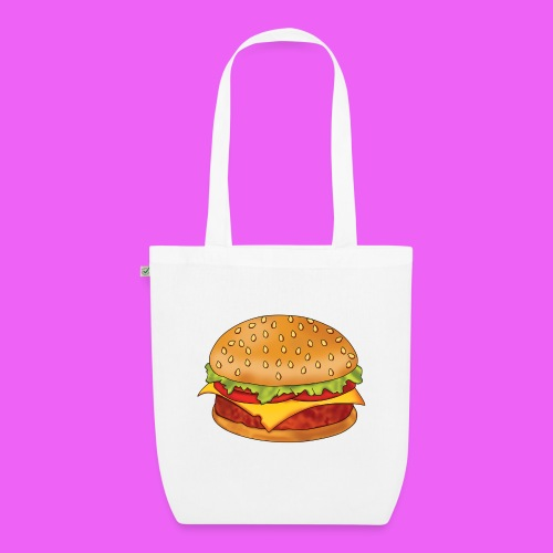 hamburguesa - Bolsa de tela ecológica