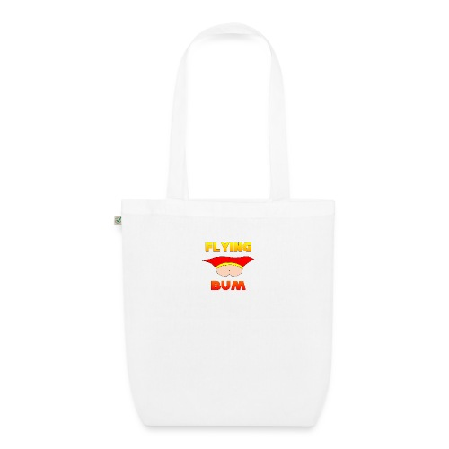 Flying Bum (face on) with text - EarthPositive Tote Bag