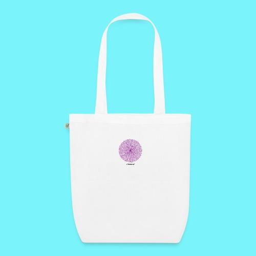 Fibonacci webs in purple - EarthPositive Tote Bag