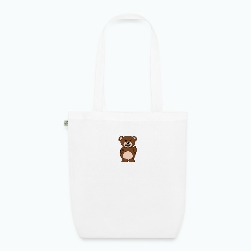 Bruno Bear Happy - Appelsin - Ekologisk tygväska