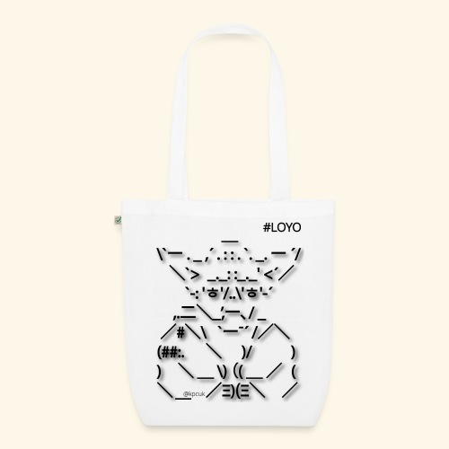 ASCII Art Yoda LOYO - EarthPositive Tote Bag
