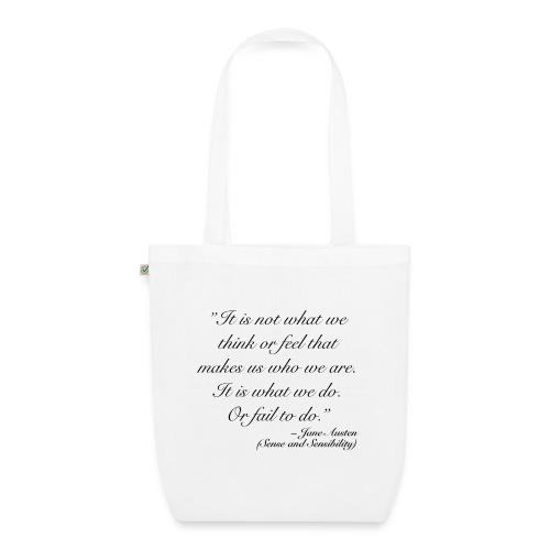 Austen quote 2 - TAE - Ekologisk tygväska