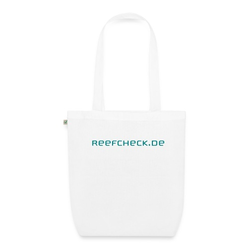 reefcheck spreadshirt schriftzug - Bio-Stoffbeutel