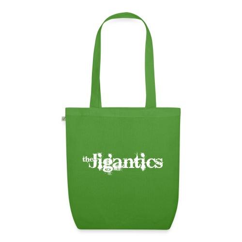 The Jigantics - white logo - EarthPositive Tote Bag