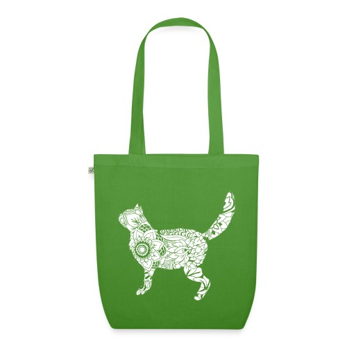 White standing cat - EarthPositive Tote Bag