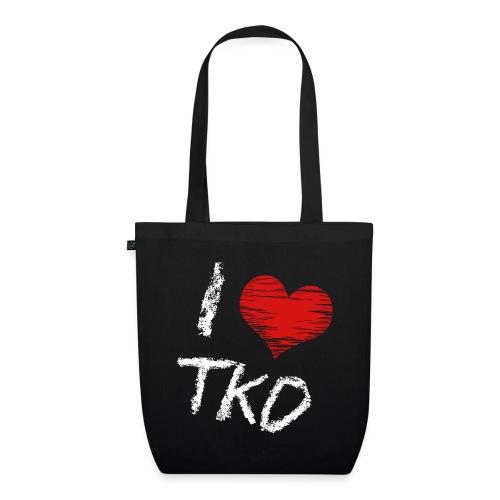 I love tkd letras blancas - Bolsa de tela ecológica