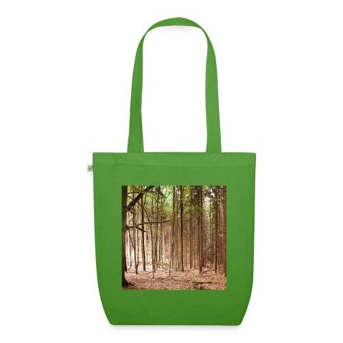 Wald Bäume Herbst Natur Waldidylle Waldleben - Bio-Stoffbeutel