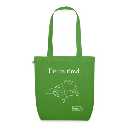 Fierce Tired Greyhound - EarthPositive Tote Bag