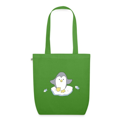 Penguin and fish - EarthPositive Tote Bag