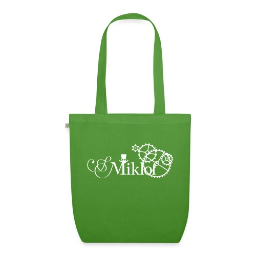 miklof logo white 3000px - EarthPositive Tote Bag