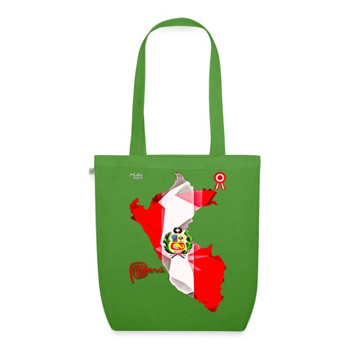 Mapa del Peru, Bandera y Escarapela - EarthPositive Tote Bag