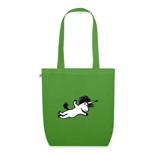 unicorno che si lancia sul nulla - Borsa ecologica in tessuto