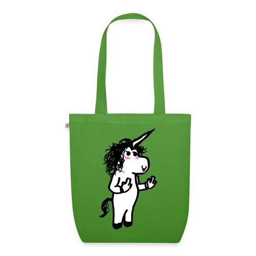 unicorno maleducato - Borsa ecologica in tessuto