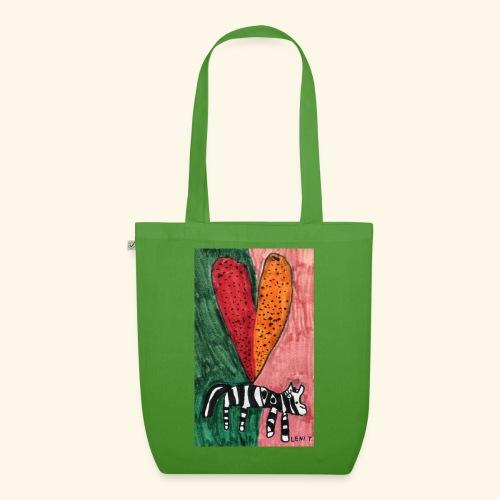 LeniT Zebra Love on Colors - Luomu-kangaskassi