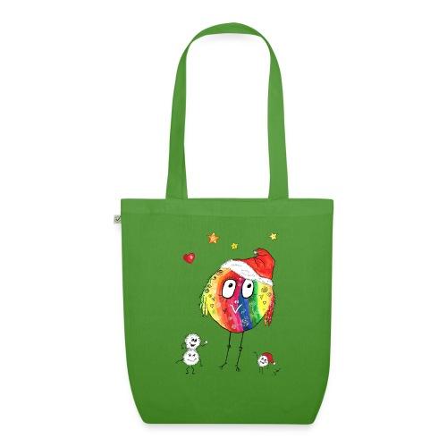 Happy Weihnachtskugelbird - Bio-Stoffbeutel
