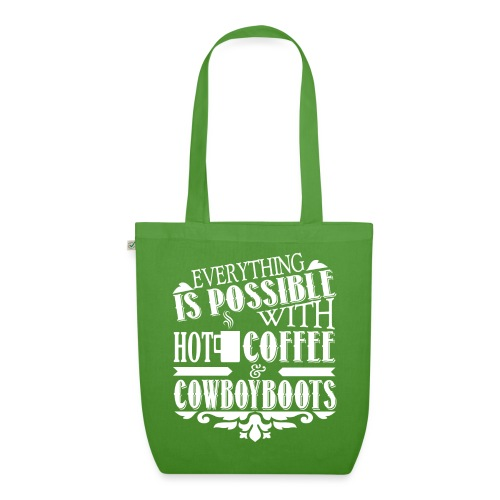Kaffee & Cowboy Stiefel - Bio-Stoffbeutel