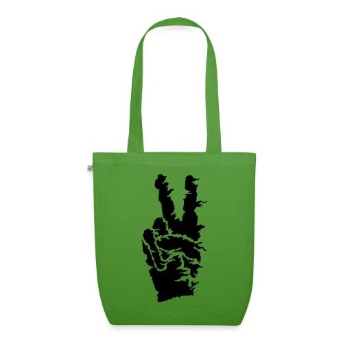 Peace sort - Øko-stoftaske