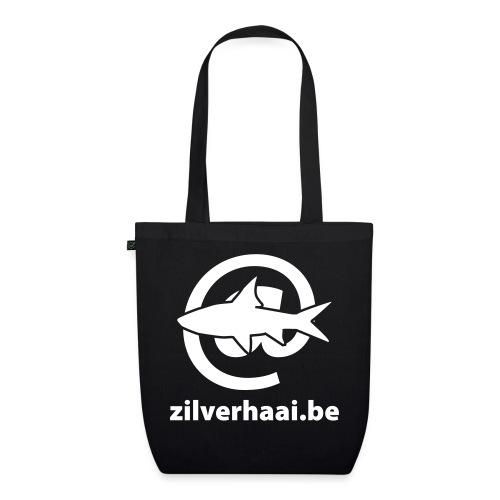 zilverhaai be zwart - Bio stoffen tas