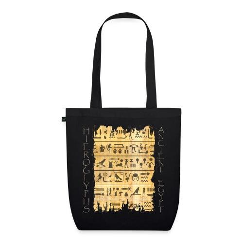 Ausgerissener Papyri mit Hieroglyphen - Bio-Stoffbeutel