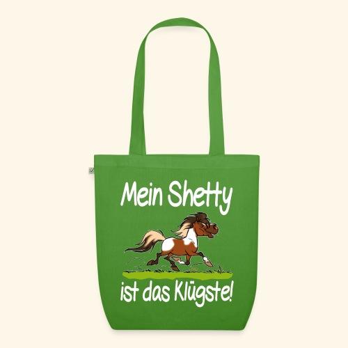 Mein Shetty das Klugste (Text weiss - Sac en tissu biologique