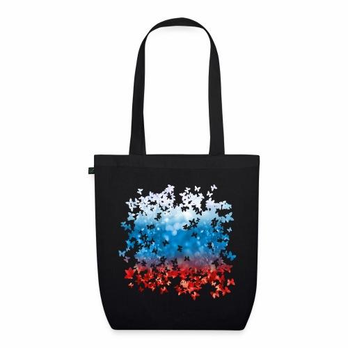 06 Russland Flagge Fahne Russia Schmetterlinge - Bio-Stoffbeutel