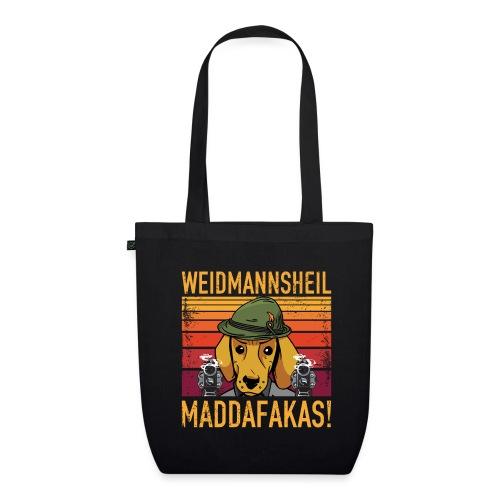 Weidmannsheil Maddafakas! Dackel Jäger Vintage fun - Bio-Stoffbeutel
