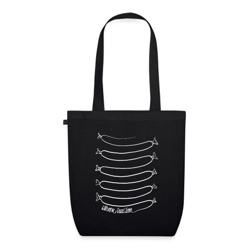 Wiener Illusion (weiß auf schwarz) - Bio-Stoffbeutel