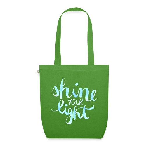 Shine your light lettering hell Affirmation - Bio-Stoffbeutel