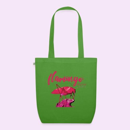 Wannabe Flamingo Sprinkhaan HOT PINK BABY - Bio stoffen tas